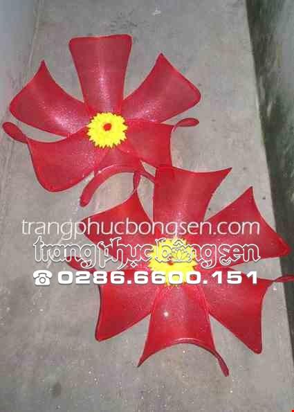 Cho thue Hoa múa cỡ lớn màu đỏ