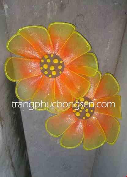 Cho thue Hoa múa cỡ lớn màu vàng - cam