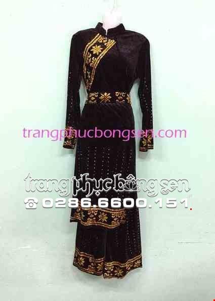Cho thue Trang phục dân tộc Tày nữ nhung đen