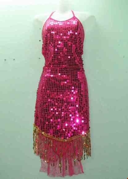 Cho thue Váy khiêu vũ kim sa hồng