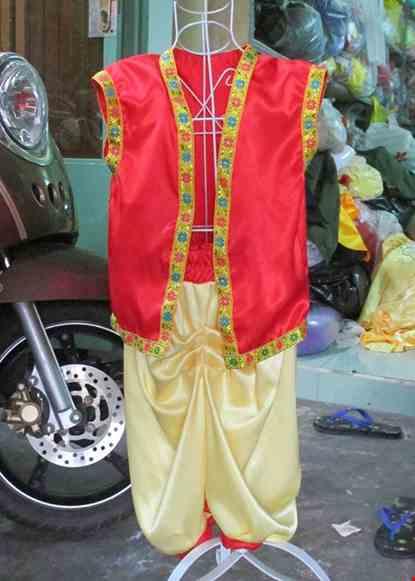 Cho thue Trang phục Alibaba trẻ em quần vàng