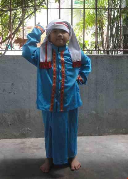 Cho thue Trang phục dân tộc Chăm trẻ em nam
