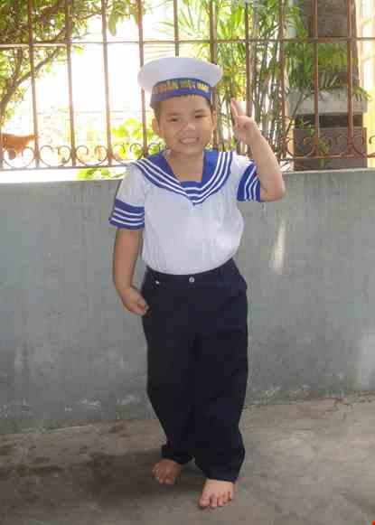 Cho thue Trang phục Hải quân nam mầm non