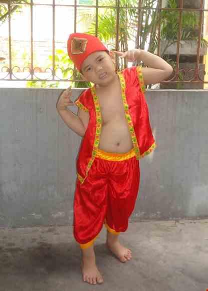 Cho thue Trang phục Alibaba trẻ em màu đỏ