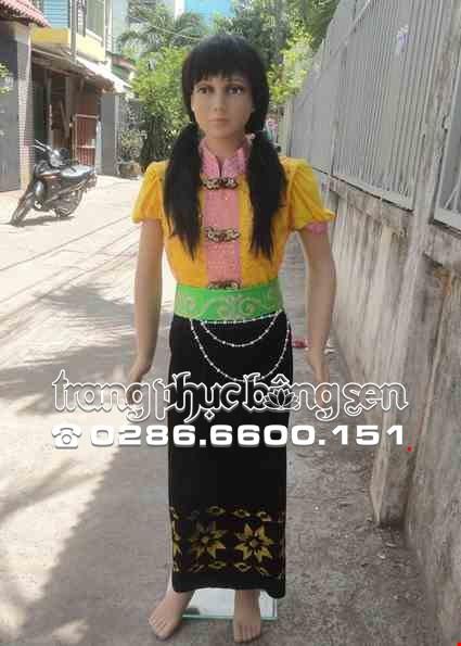 Cho thue Trang phục dân tộc Thái tiểu học vàng