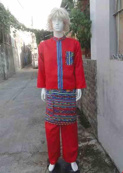 Cho thue Trang phục Indonesia nam áo - quần - váy màu đỏ