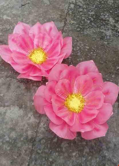 Cho thue Hoa vải 3 lớp màu hồng
