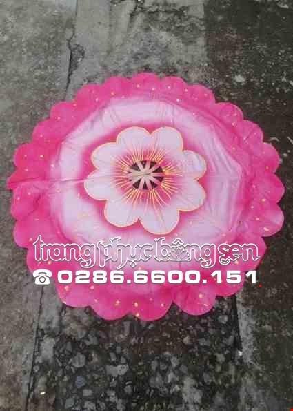 Cho thue Quạt múa 360 độ màu hồng