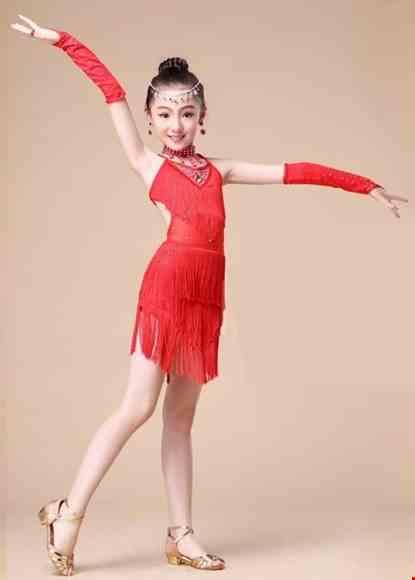 Cho thue Trang phục khiêu vũ mầm non màu đỏ