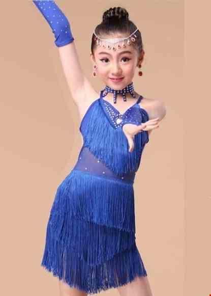 Cho thue Trang phục khiêu vũ mầm non màu xanh