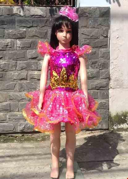 Cho thue Váy múa mầm non kim sa hồng