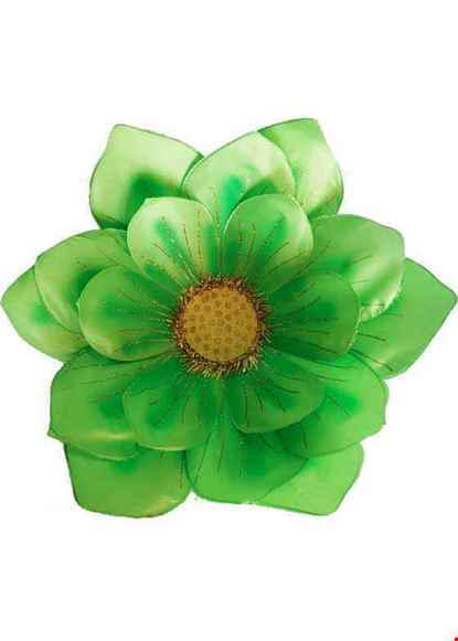 Cho thue Hoa vải 3 lớp màu xanh lá