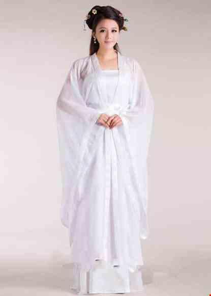 Cho thue Trang phục Hằng Nga cổ trang voan trắng
