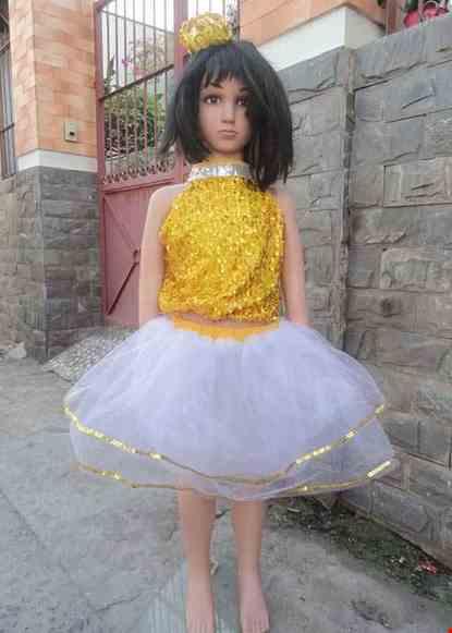 Cho thue Áo váy kim sa trẻ em vàng