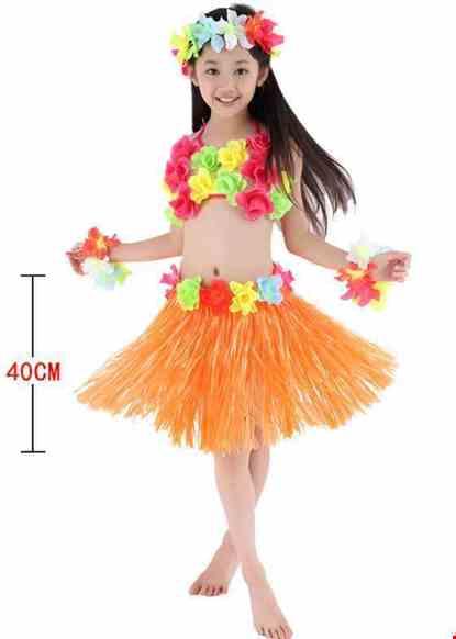 Cho thue Trang phục múa Hawaii mầm non nữ