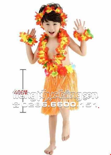 Cho thue Trang phục múa Hawaii mầm non nam