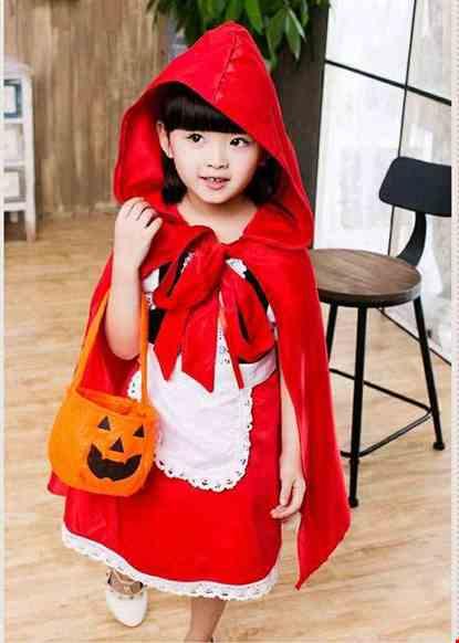 Cho thue Trang phục cô bé quàng khăn đỏ mầm non
